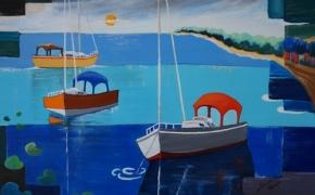 Morning at Massassauga Point - acrylic