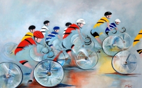 The Cyclists - acrylic - SOLD