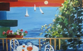 View from my Deck - acrylic - SOLD