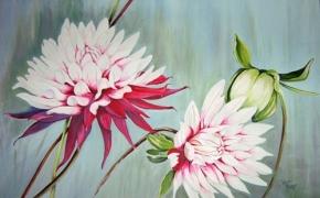 Dahlia Splendour - acrylic