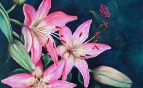 Daylilies - acrylic