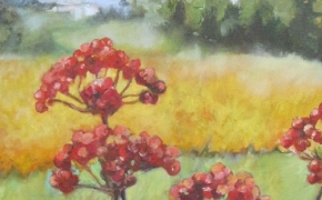 Flowers in Southern France - oil - SOLD