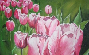 The Tulip Festival - acrylic - SOLD