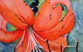 Tiger Lily - acrylic