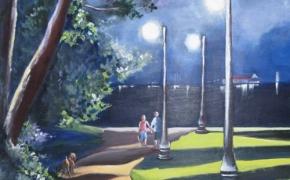 Evening Stroll in Zwicks Park - acrylic - SOLD