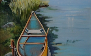 Hidden Canoe - acrylic