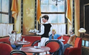 Cafe Central in Vienna - oil