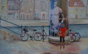 On a Cold Day in Amsterdam - acrylic - SOLD