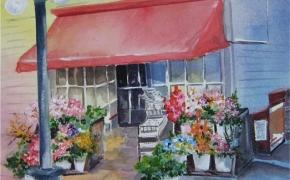 Corner Store in Victoria - watercolour - DONATED